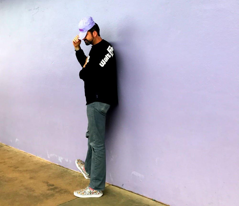 The old Purple Wall at Disney World Magic Kingdom