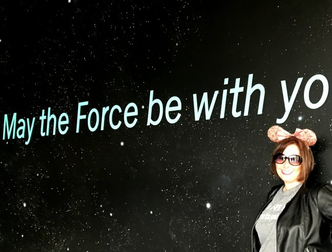 Star Wars Wall at Disneyland