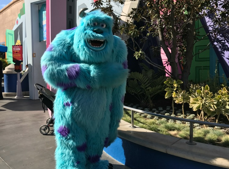 Pixar Character sulley at disneyland near monsters inc