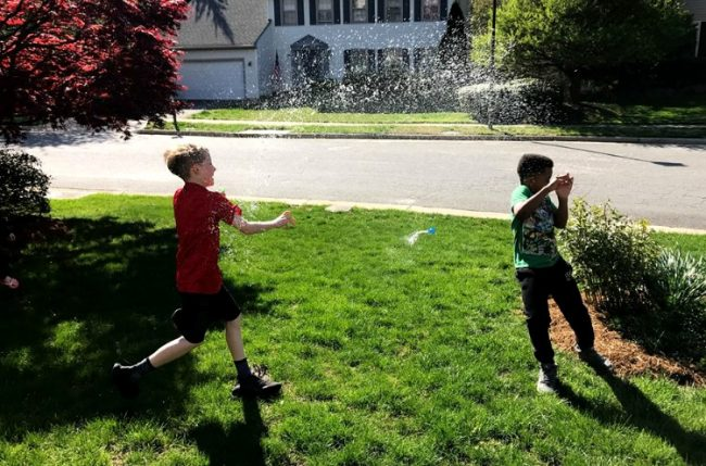 Avengers water Balloons fight for Avengers party ideas