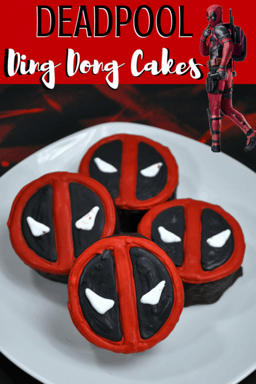 Deadpool Ding Dong Cake recipe to add to your Marvel movie watching superhero party ideas! Deadpool memes, parent review and more. #deadpool #dingdong #dingdongcake #recipe #marvel