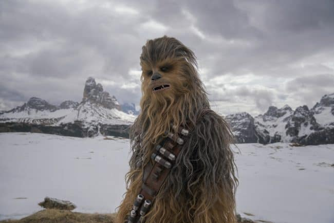 Joonas Suotamo is Chewbacca in SOLO: A STAR WARS STORY.
