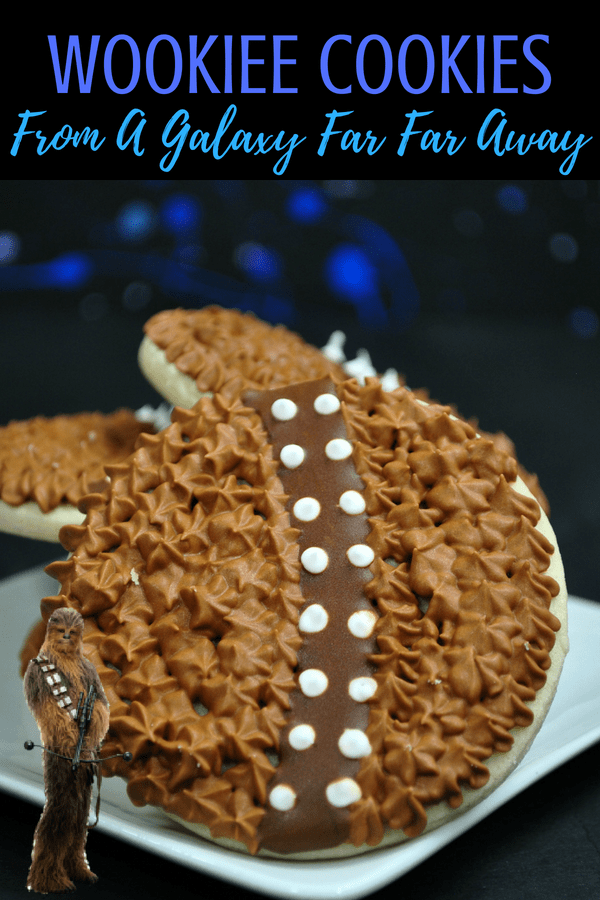 Star Wars Cookies Wookiee Cookies are perfect for your Star Wars party! #chewbacca #wookiecookies #wookieecookies #cookies #starwarspartyideas #partyideas #starwars #solo #hansolo