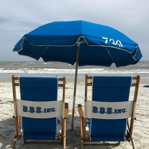 Beach chairs on St. Simons Island Georgia