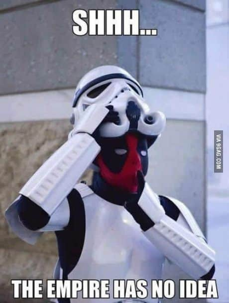 Strom Trroper star wars deadpool meme