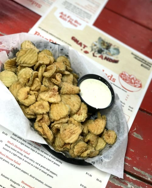 Gnats Landing a St. Simons Island Restaurant with amazing fried pickles