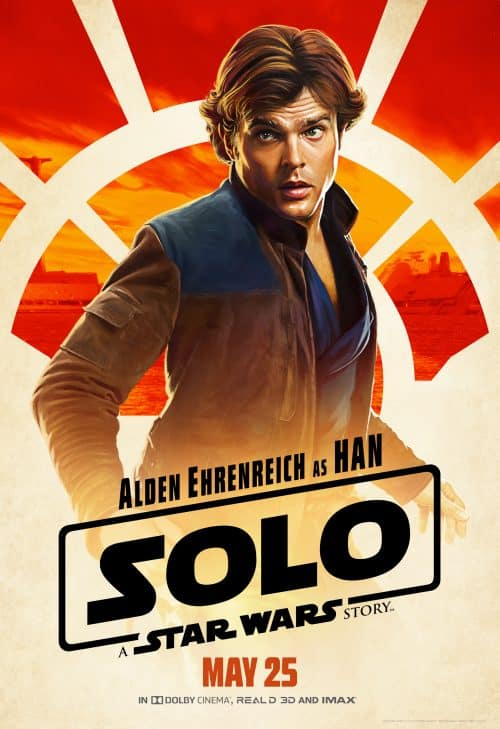 Han Solo in Solo: A Star Wars Story movie poster