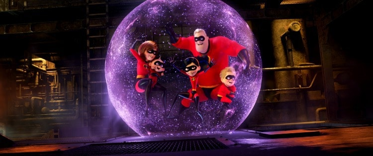 incredibles family shield created by Violet in Incredibles 2 movie