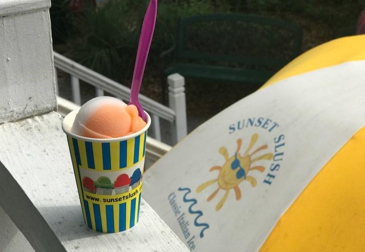 Italian Ice from Sunset Slush on St Simons Island restaurants