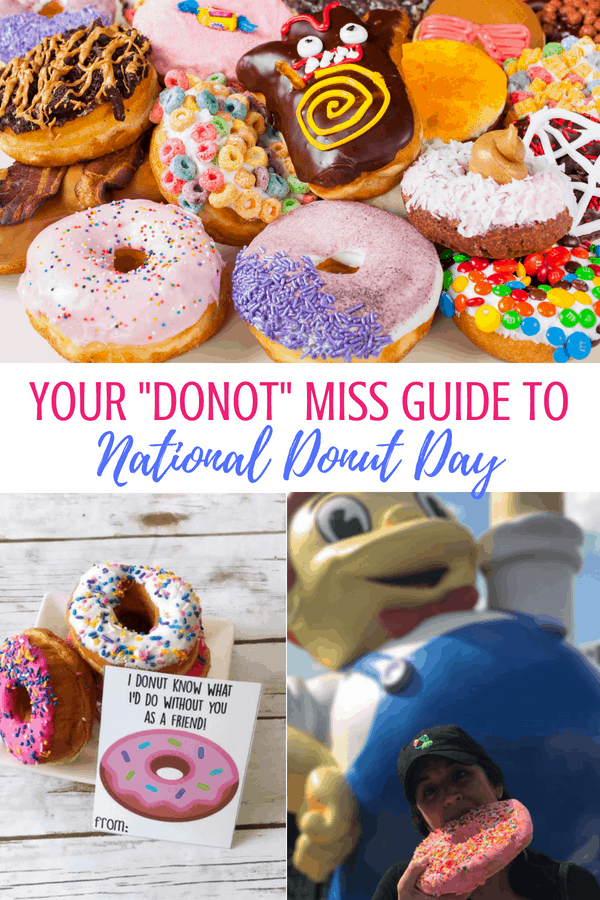 "You ""donut"" want to miss all the free stuff on National Donut Day! Your guide to free donut day with donut recipes, donut memes, and donut crafts. #donuts #nationaldonutday #freedonut #donutrecipe #crafts #DIY #printables"