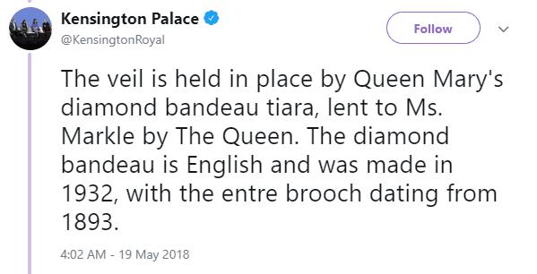 meghan markle's tiara tweet
