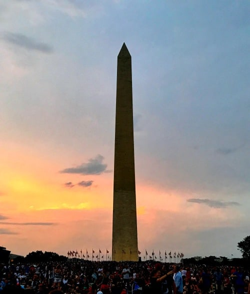 Washington DC 4th of July free events: visit the washington Monument! It's free year round.