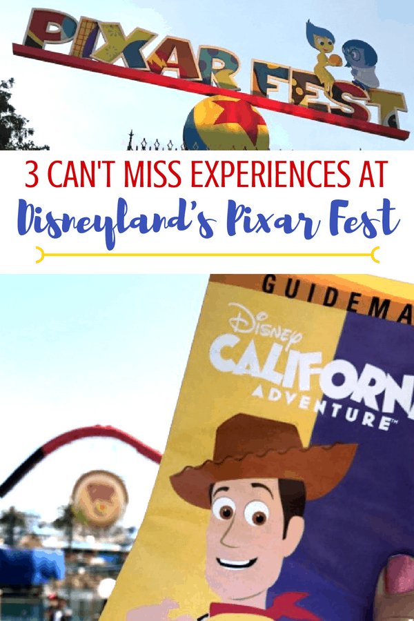 Disneyland Pixar Fest runs through September 3 and you WANT to go! (trust me, you do!) I have 3 can't miss experiences if your Disneyland vacation is short on time. #Disneyland #Disney #Pixar #Pixarfest #disneytips #travels #travel #familyvacation #traveltips