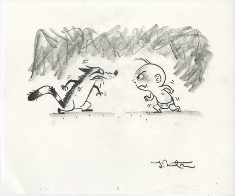Jack-Jack and the Raccoon concept art by Teddy Newton