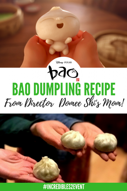 Download the famous dumpling recipe that inspired the Pixar Short Bao! How do you make dumplings? Here's your answer! #Incredibles2 #Incredibles2event #Incredibles #Pixar #movies #interviews #recipes #dumplings #cooking