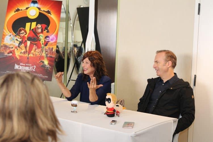 """Bob Odenkirk (voice of """"Winston Deavor"""") & Catherine Keener (""""Evelyn Deavor"""") in Incredibles 2"""