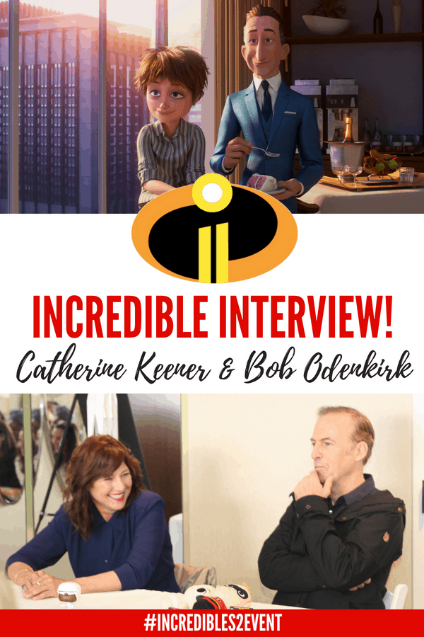 Incredibles 2 Interview with the Deavors: Bob Odinkirk & Catherine Keener (Winston and Evelyn) #Incredibles2 #Incredibles2Event #Pixar #BradBird #Disney