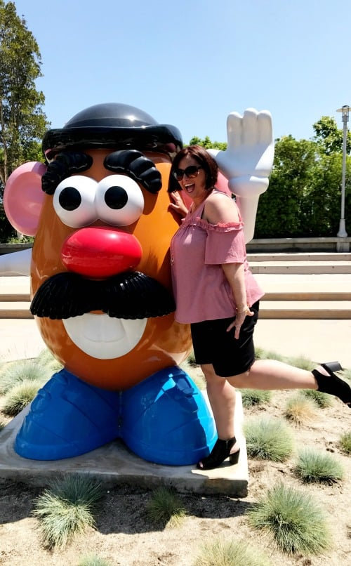Mr. Potato Head statue on Disney Channel Studios Lot