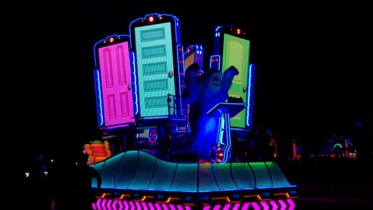 Disneyland Paint the Night Parade Monsters Inc float
