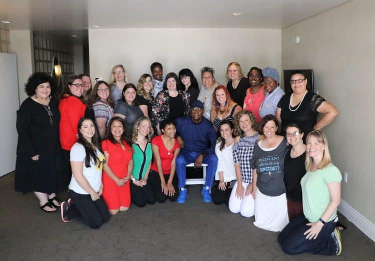 Samuel L Jackson Group Photo Incredibles 2 Event Interviews