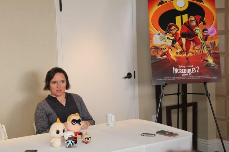 The Incredibles 2 Violet- Sarah Vowell- talks about working with director Brad Bird