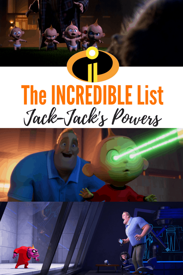 The Incredibles list of Jack-Jack's powers! Check out how many superpowers the baby has in Incredibles 2. #Incredibles2 #Incredibles #Pixar #JackJack