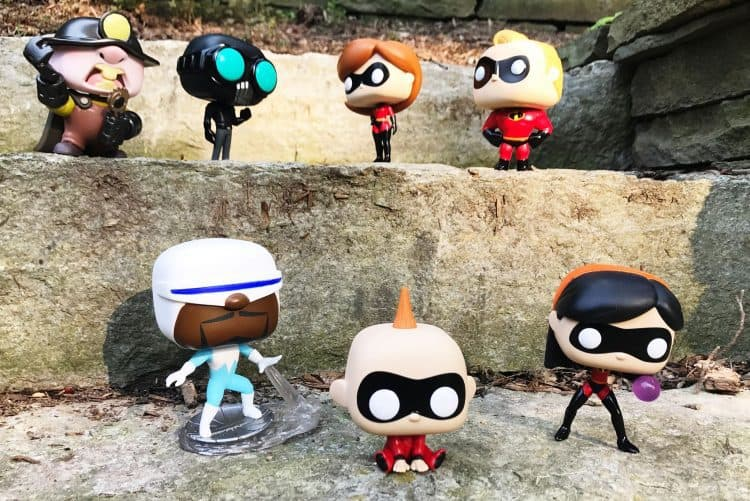The Incredibles toys Funko Pop Vinyl figures from Incredibles 2