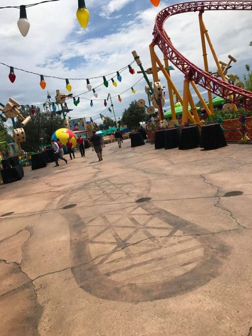 Andy's footprint in Toy Story Land