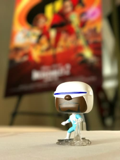 frozone pop funko at the Incredibles 2 Event press junket