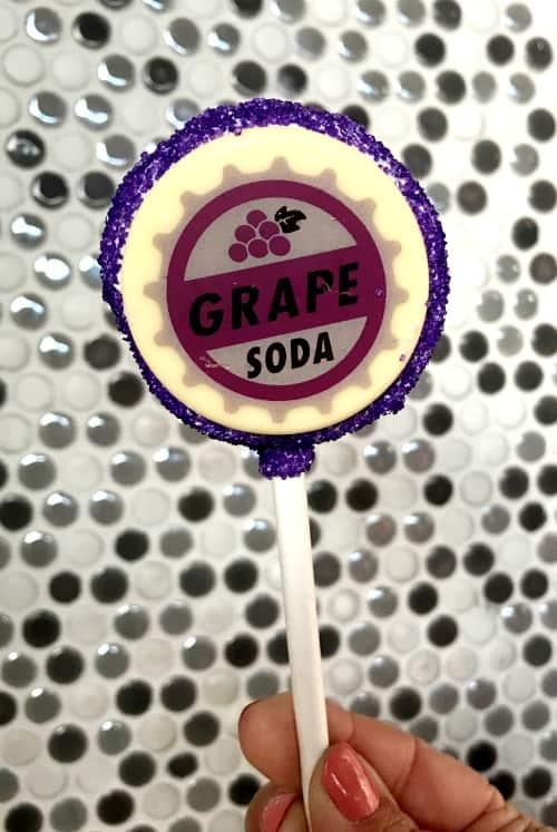 Disneyland Pixar Fest grape soda cake pop