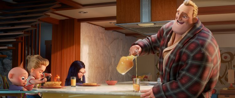 Bob Parr aka Mr. Incredible attempts his most heroic feat yet: spearheading life at home with Violet, Dash and baby Jack-Jack, whose super powers are about to be discovered by his family. Written and directed by Brad Bird and produced by John Walker and Nicole Paradis Grindle,