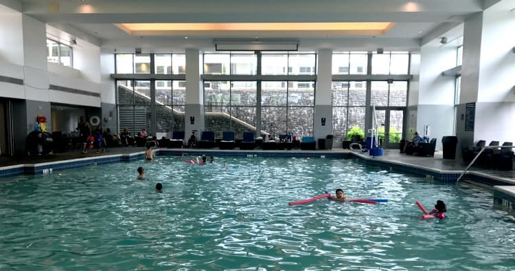 indoor pool at Gaylord Hotel National Harbor