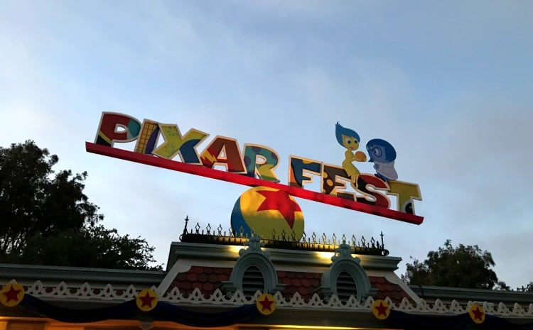 disneyland pixar fest sign