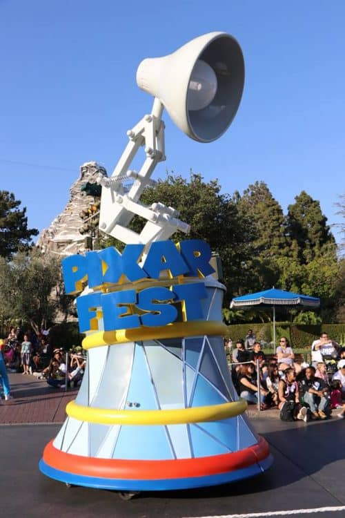 pixar fest lamp float