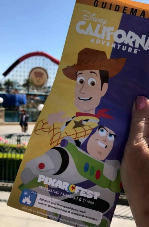 Disneyland Pixar Fest Disney California Adventure Guide Map