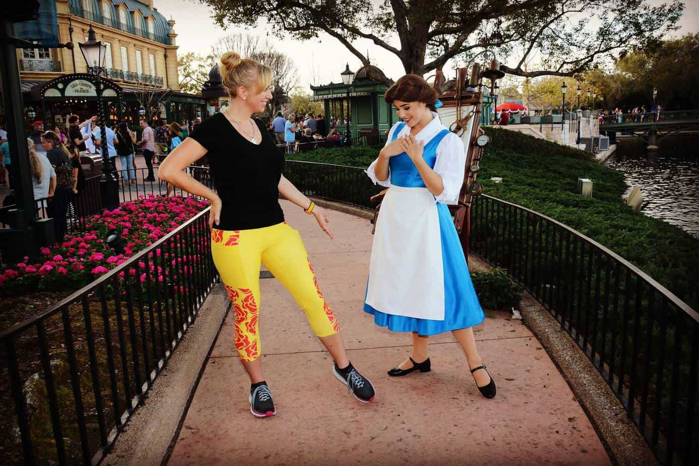 Wish Cricket Beauty and the Beast rose capris in yellow with Belle.