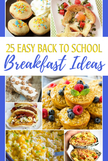 Easy back to school breakfast ideas: to get everyone fed and out the door to school easier this year! #recipes #backtoschool #bts #teachers #parents #food #breakfast