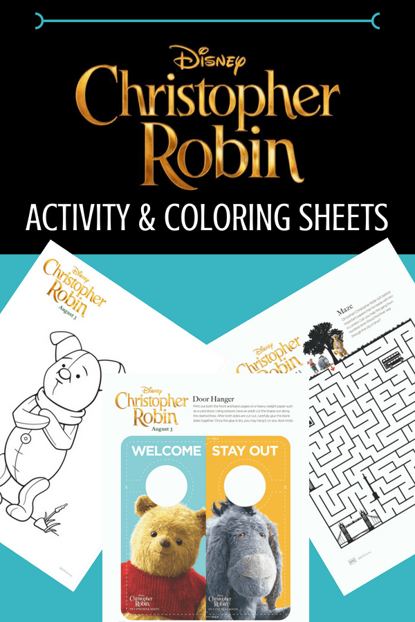 Christopher Robin is in theaters Aug 3; get ready with Christopher Robin movie activity sheets. Winnie the Pooh activities & coloring pages for the whole family. #ChristopherRobin #freeprintables #printables #winniethepooh #coloringsheets #coloring #kidsactivities