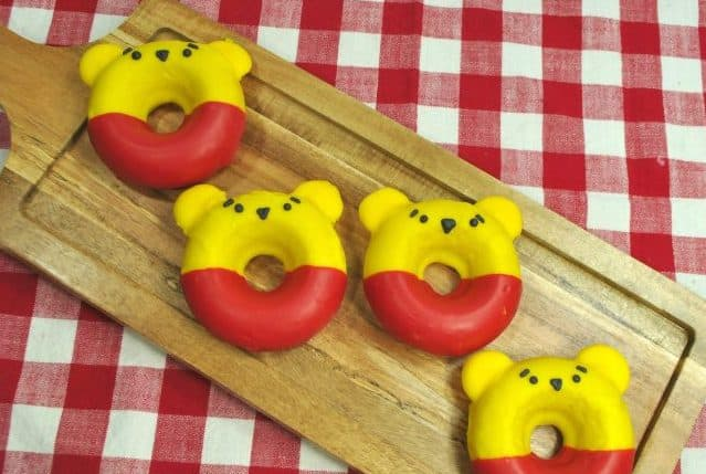 Winnie the Pooh cake donuts are perfect for a Winnie the Pooh birthday party!