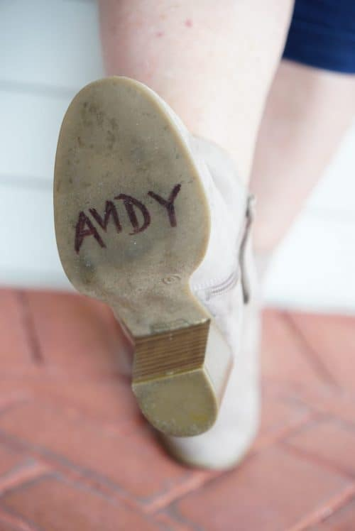 Woody Disneybounding Andy on Boot