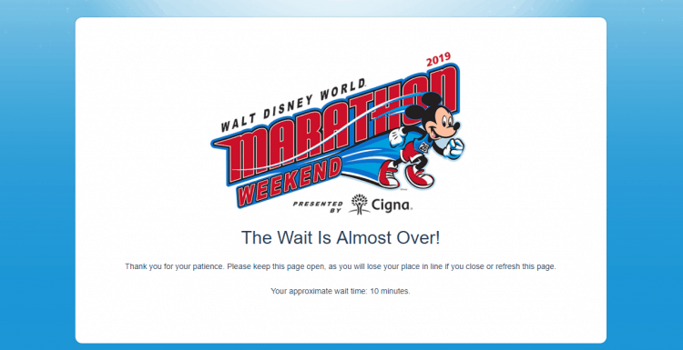 rundisney passholder virtual Queue