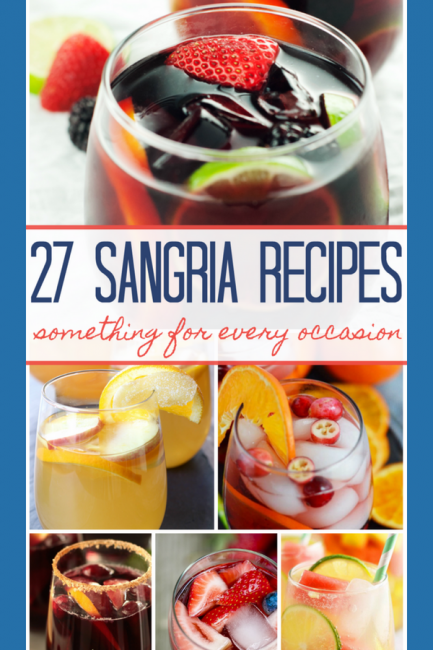 Round up of the best sangria recipes for you! You love wine? You love fruit? You love fun? Then find the best Sangria recipe here! #sangria #drinks #alcohol #wine #sangriarecipes #partyideas