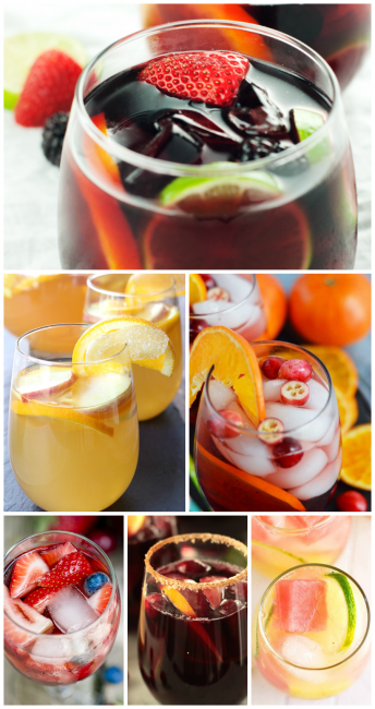 Round up of the best sangria recipes for you! You love wine? You love fruit? You love fun? Then you'll love these Sangria recipes! #sangria #drinks #alcohol #wine #sangriarecipes #partyideas