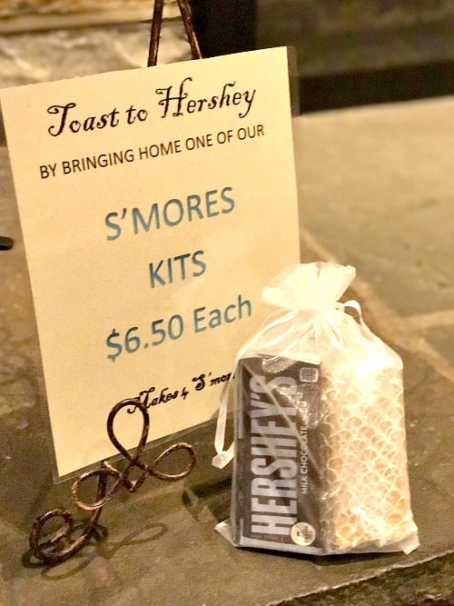 s'mores kits at the cocoa beanery | hershey lodge restaurants