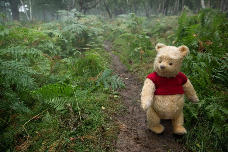 Winnie the Pooh in Disney?s live-action adventure Christopher Robin