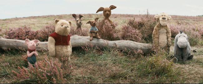 Piglet, Pooh, Rabbit, Roo, Kanga, Tigger and Eeyore in Disney's live-action adventure CHRISTOPHER ROBIN