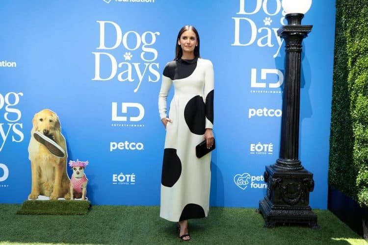 "Nina Dobrev at the World Premiere of LD Entertainment's, ""Dog Days"" Dog Days red carpet"
