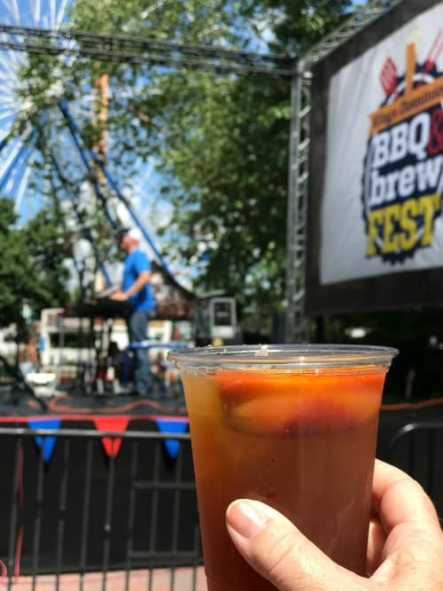 kings dominion bbq and brew stage