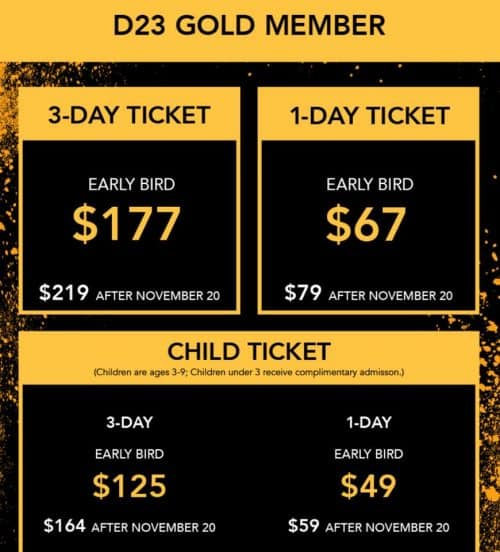 d23 expo early bird gold member