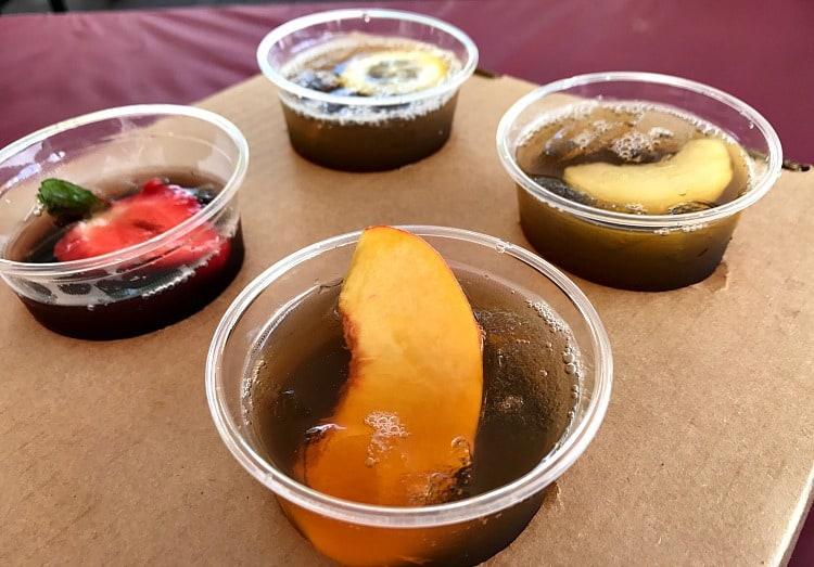 Kings Dominion BBQ and Brew Fest 2018 sweet tea flight